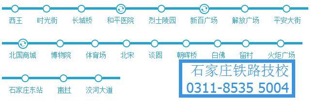 石家庄地铁1号线路线图