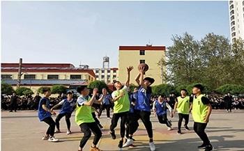 石家庄铁路职业技工学校篮球赛