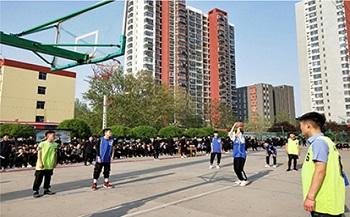 石家庄铁路技校篮球比赛